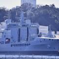 横須賀基地。。イギリス海軍補給艦タイドスプリングA136。。20170212