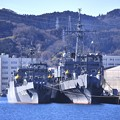 軍港めぐりに乗って横須賀港から長浦港へ。。海洋観測艦2隻。。29170212
