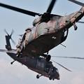 木更津航空祭。。2機ブラックホーク戦闘高度進入。。