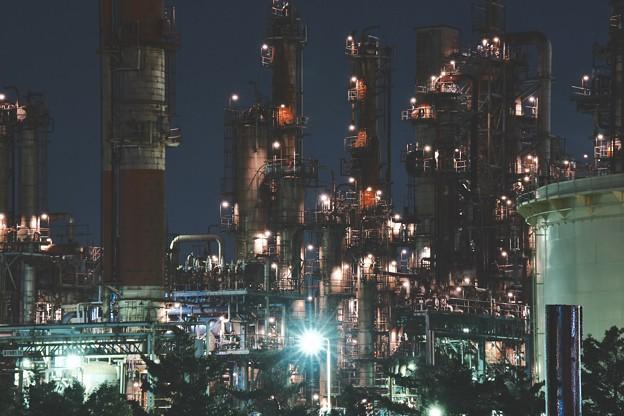 水江町の工場夜景。。力強さを感じて 20170304