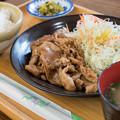 生姜焼き定食(道の駅・湯の川【島根】)
