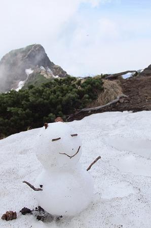 台座ノ頭の雪だるま
