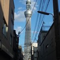写真: 空に聳える塔