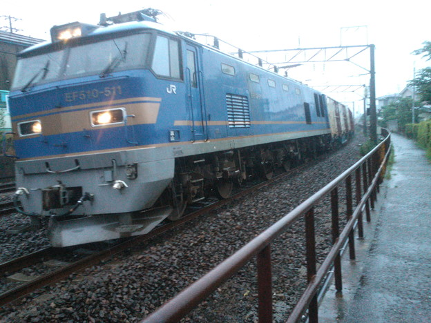 EF510-511牽引 下り貨物