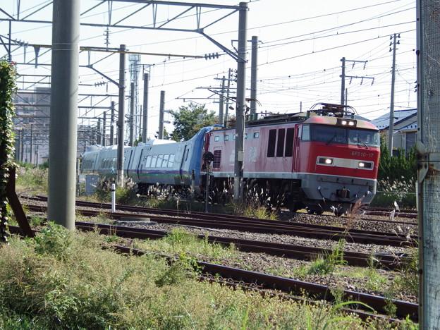 EF510‐17牽引 キハ285系・甲種輸送~秋田貨物駅へ