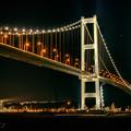 写真: 橋の夜景に癒されて