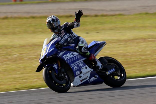 写真: #21 中須賀克行選手 YAMALUBE YAMAHA FACTORY RACING