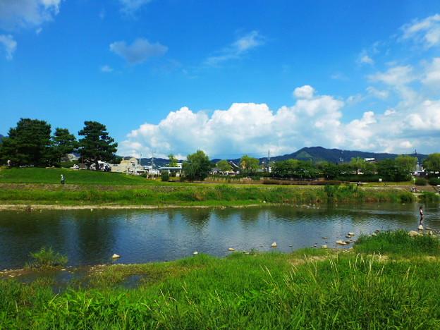 京都 鴨川の風景