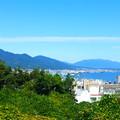 比叡山を見渡せる景色@大津サービスエリア