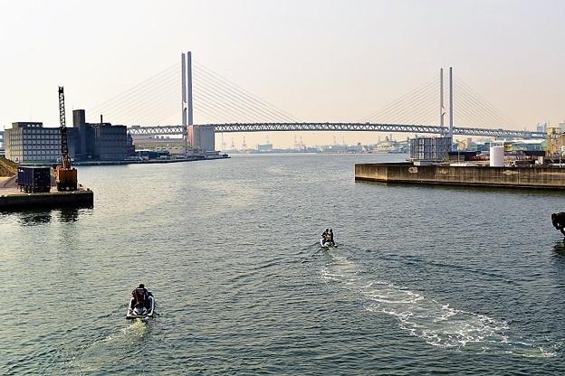 写真: 深江大橋から