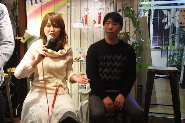 小沢綾子さん(左)と戸田正樹さん(右)