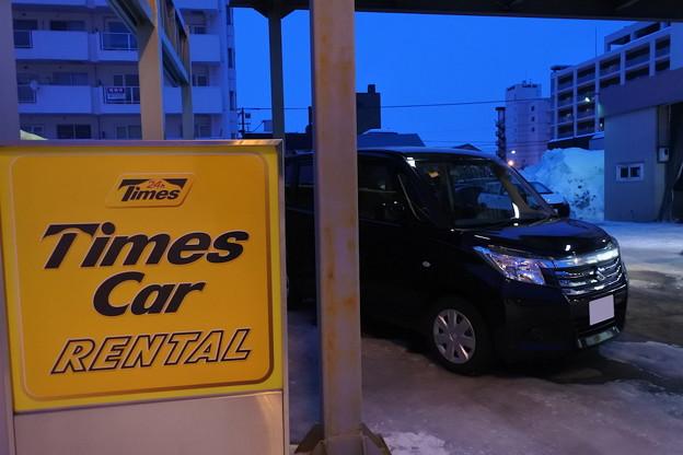 旭川駅前でレンタカーを借りる