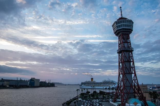 博多港の夕景♪