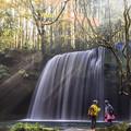 写真: 朝靄の鍋ヶ滝♪5