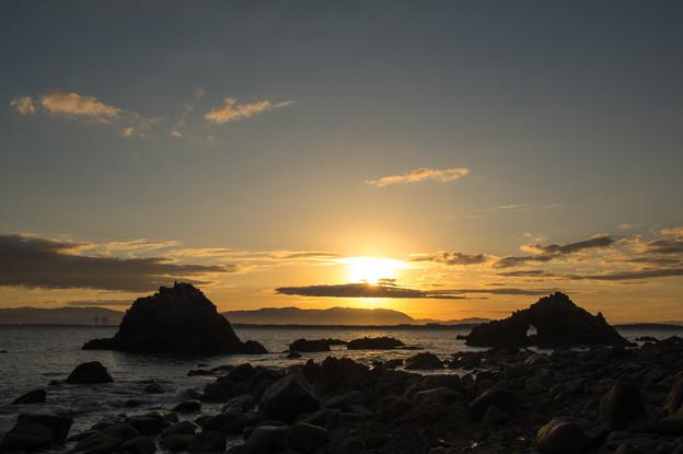 志賀島の朝焼け♪5