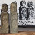 羅漢の木版画