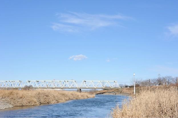 <東上線鉄橋・冬晴れ>