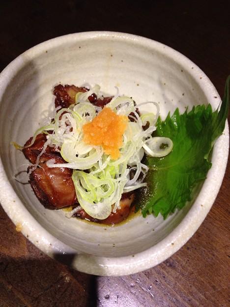 写真: ネギたっぷり砂肝