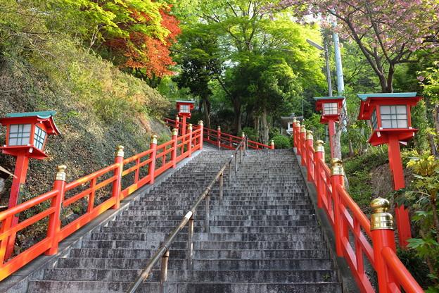 足利織姫神社の石段