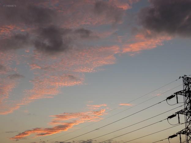 密なうろこ雲とばらけたうろこ雲