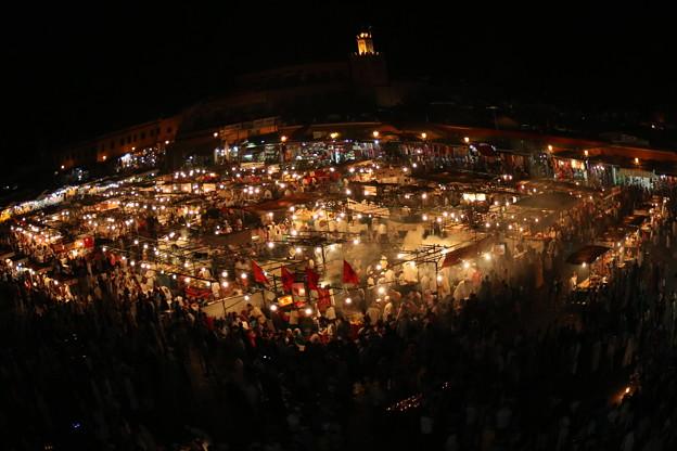 フナ広場の夜景 ~Jemaa el-Fnaa ~