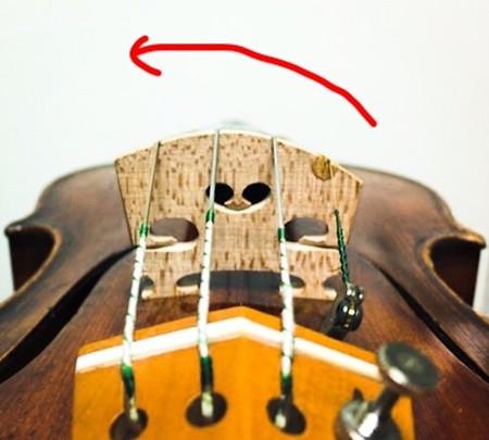 中野・江古田 バイオリン 個人レッスン ヴィオラ 吉瀬弥恵子 ワイズ音楽教室 駒の向き