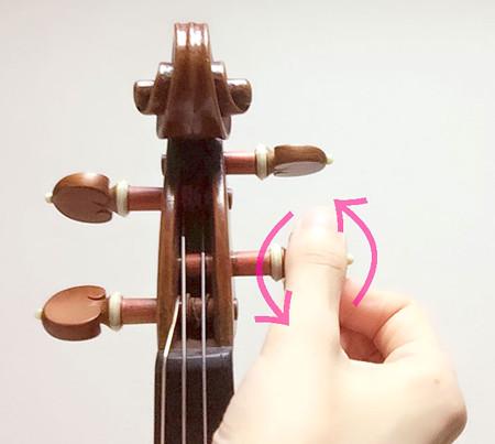 中野 江古田 バイオリン 個人レッスン ヴィオラ 吉瀬弥恵子 ワイズ音楽教室 ペグ調整剤を塗る