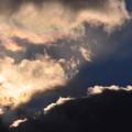 写真: 空は夕陽に燃えていました