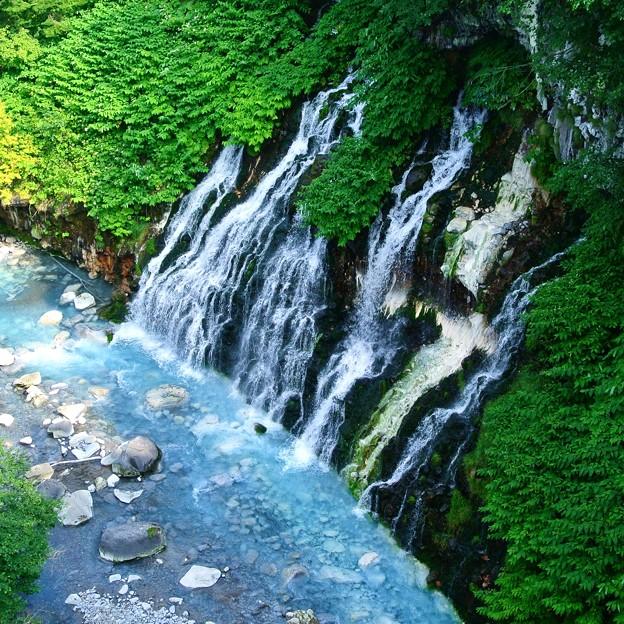 美瑛町 白金温泉 白髭の滝