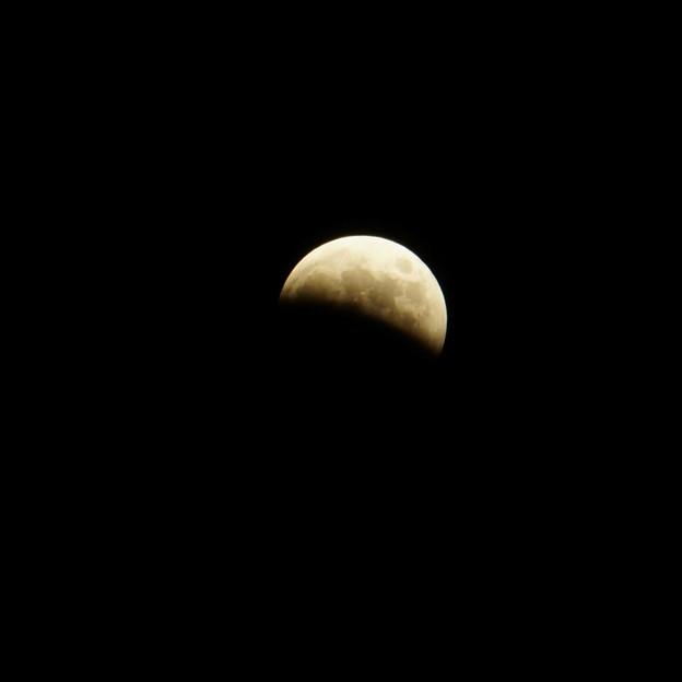 皆既月食(途中)