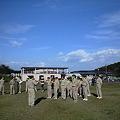 写真: ボーイ隊のキャンプを手伝い中