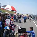 写真: 岡崎静夏 HONDA NSF250R Kohara MFJ 全日本ロードレース J-GP3 SUPERBIKE もてぎ jrr IMG_8013