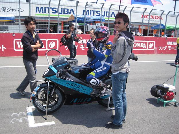 写真: 01 2014 佐藤正之 CLUBNEXT MOTOBUM HONDA NSF250R 全日本ロードレース J-GP3 SUPERBIKE IMG_7988